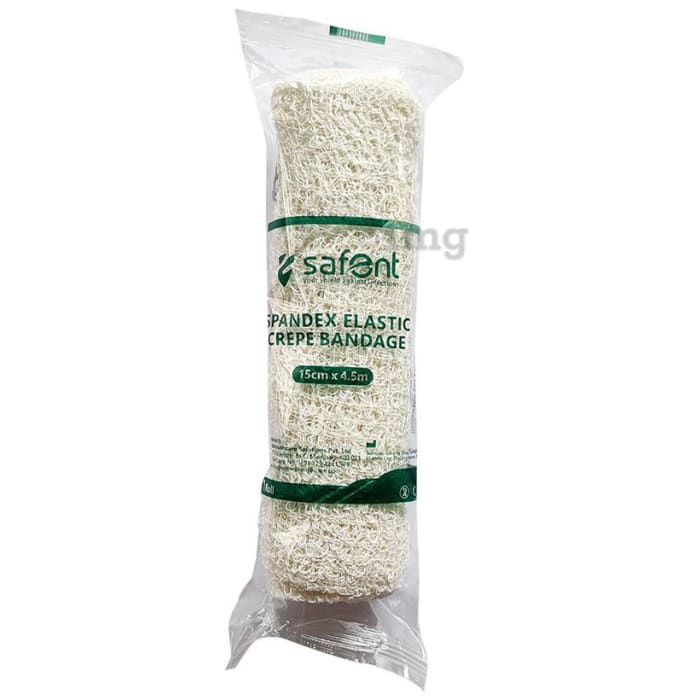 Safent Spandex Elastic Crepe bandage 15cm x 4.5m