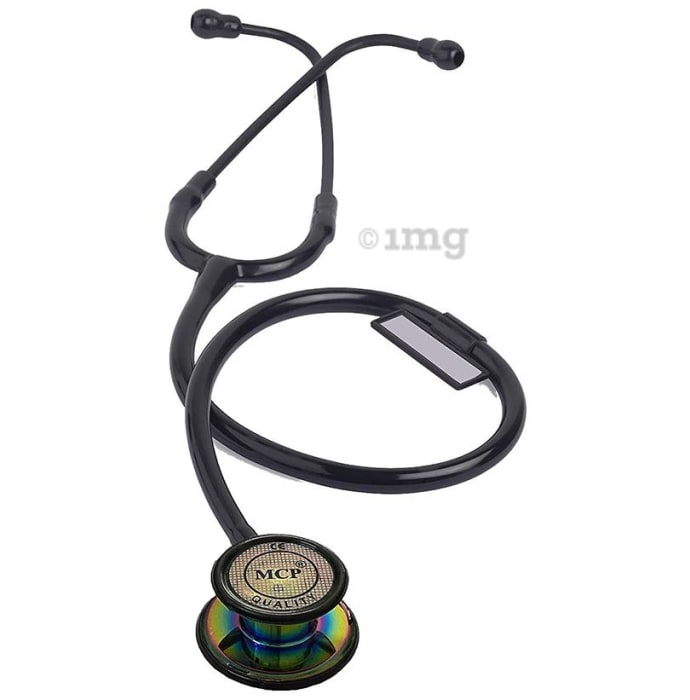 MCP Premium Quality Rainbow-Finish Chest-Piece Stethoscope Black