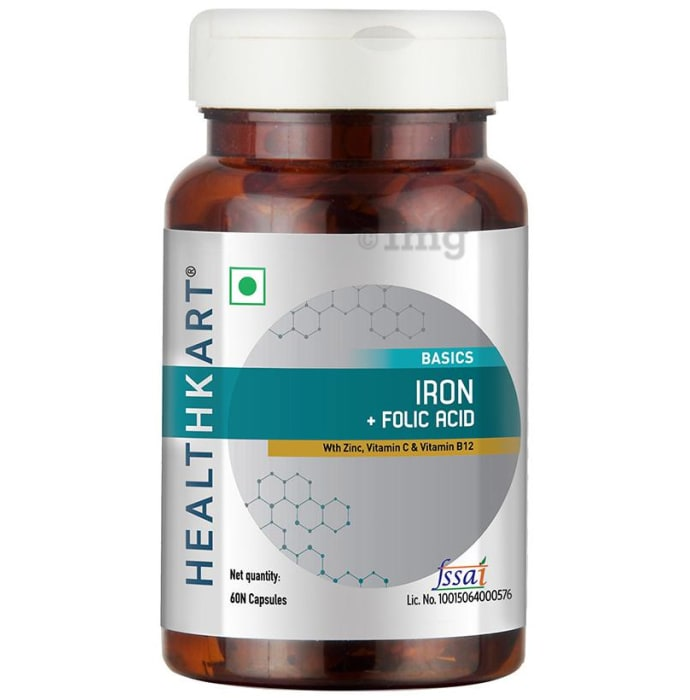 HealthKart Basics Iron+Folic Acid Capsule