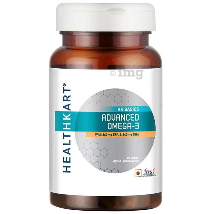 HealthKart HK Basics Advanced Omega 3 Soft Gelatin Capsule