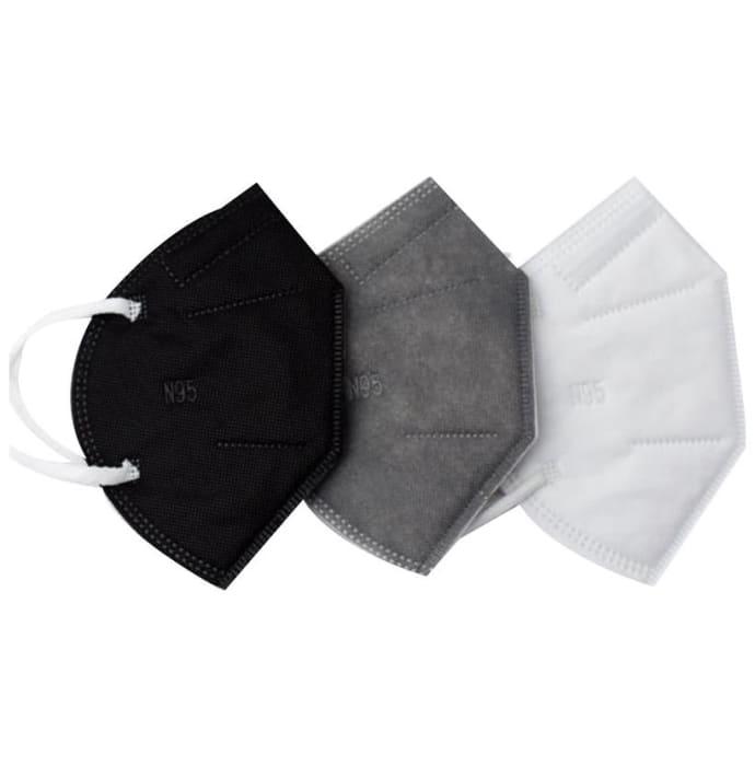 Ekana 5 Layer Filtration N95 Mask White, Black, Grey
