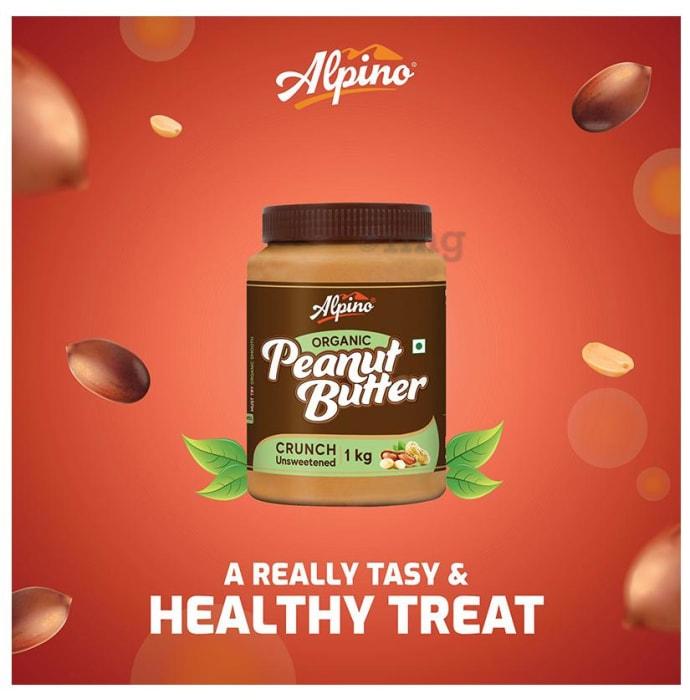 Alpino Organic Crunch Unsweetened Peanut Butter