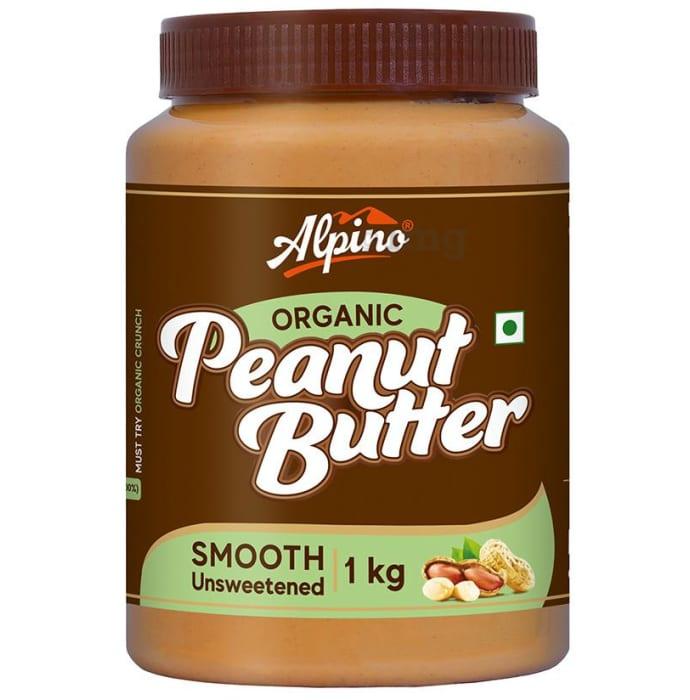Alpino Organic Smooth Unsweetened Peanut Butter