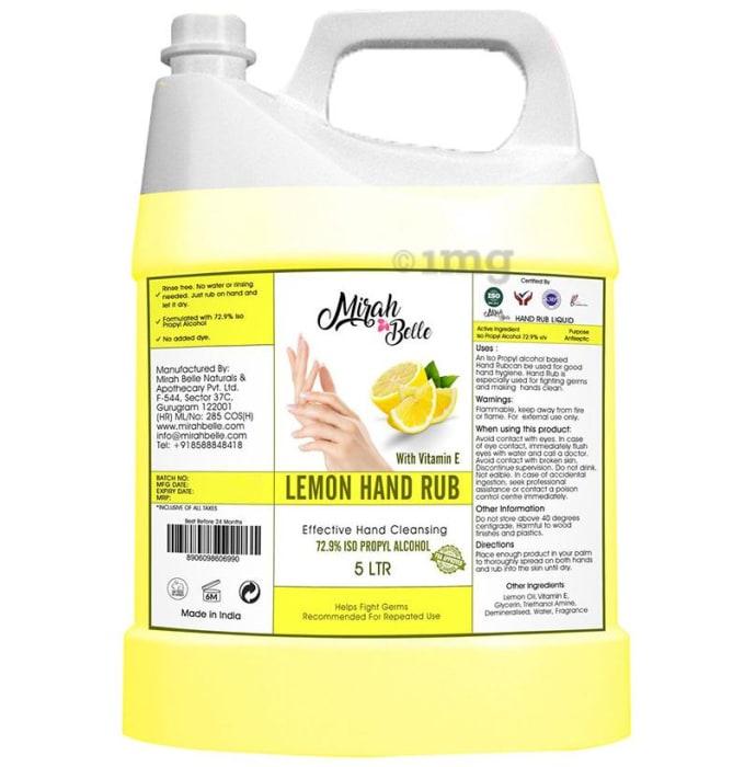 Mirah Belle Hand Rub Lemon Sanitizer