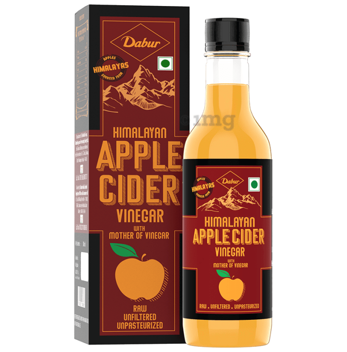 Dabur Himalayan Apple Cider Vinegar with Mother of Vinegar Raw,Unfiltered,Unpasteurized