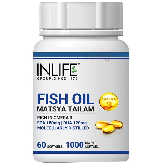 Inlife Fish Oil Omega 3 Softgels