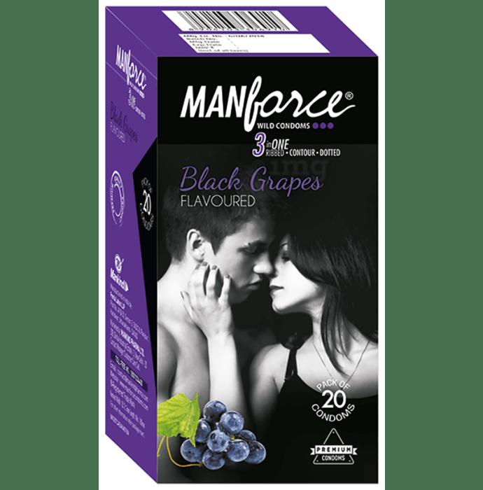 Manforce Wild Condom Black Grapes