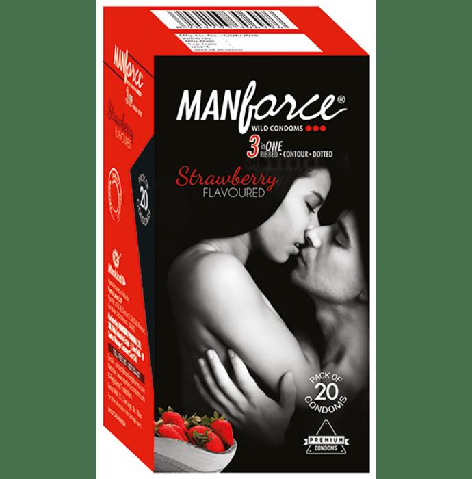 Manforce Wild Condom Strawberry