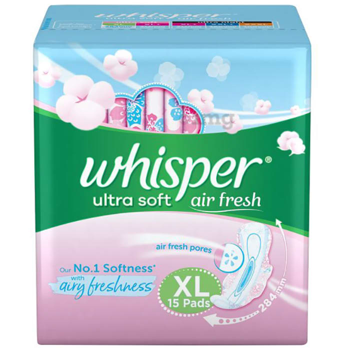 Whisper Ultra Soft Sanitary Pads XL
