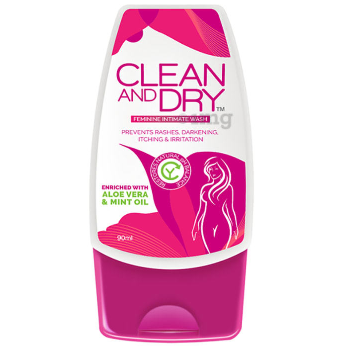 Clean & Dry Feminine Intimate Wash Enriched with Aloevera & Mint Oil