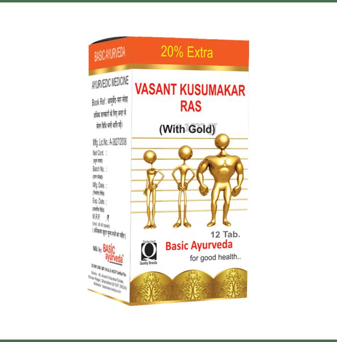 Basic Ayurveda Vasant Kusumakar Ras with Gold