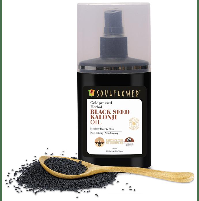 Soulflower Coldpressed Herbal Black Seed Kalonji Oil