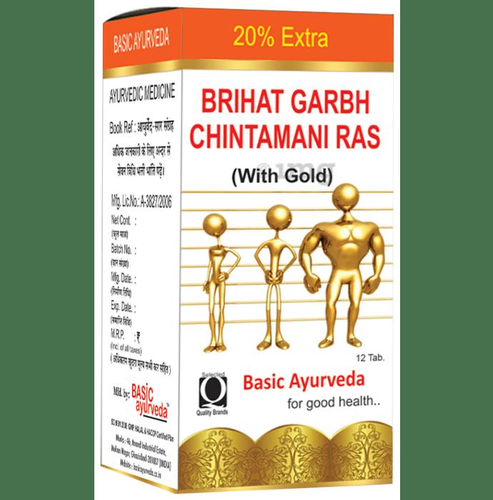 Basic Ayurveda Brihat Garbh Chintamani Ras with Gold Tablet