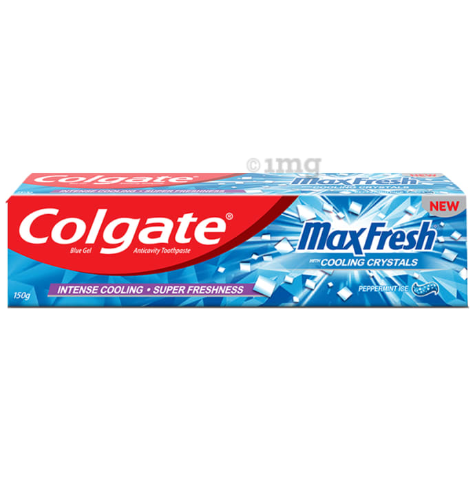 Colgate Maxfresh Peppermint Ice Blue Gel Toothpaste