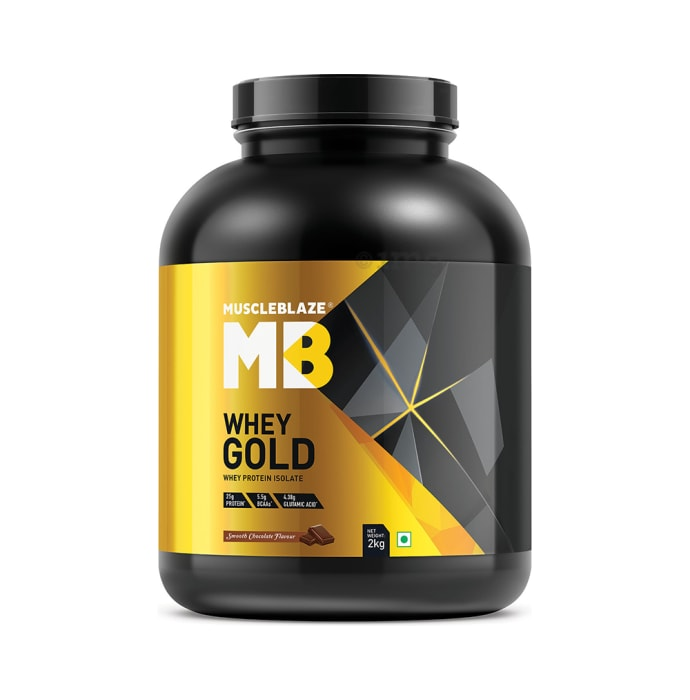 MuscleBlaze Smooth Chocolate Whey Gold Whey Protein Isolate