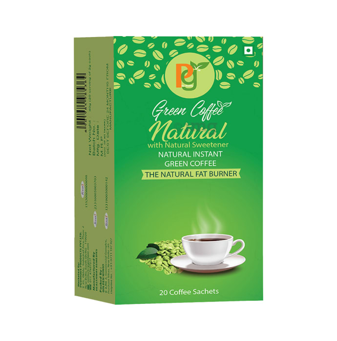 Pg Natural with Natural Sweetener Green Coffee Sachet
