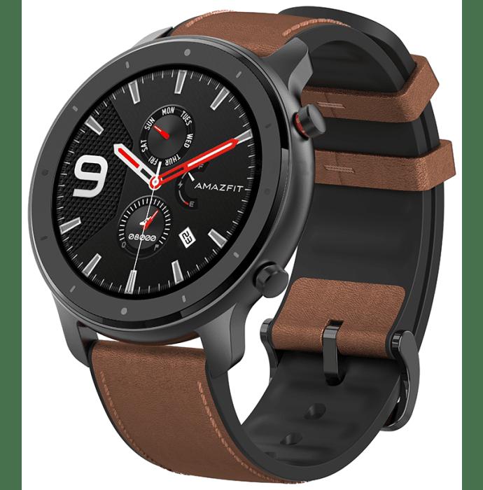 Amazfit Black Aluminium Alloy GTR 47mm Smart Watch