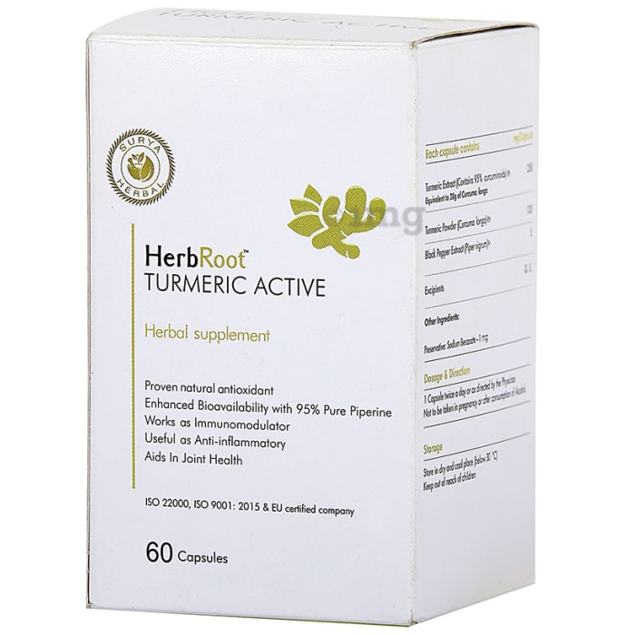 Surya Herbal HerbRoot Turmeric Active Capsule