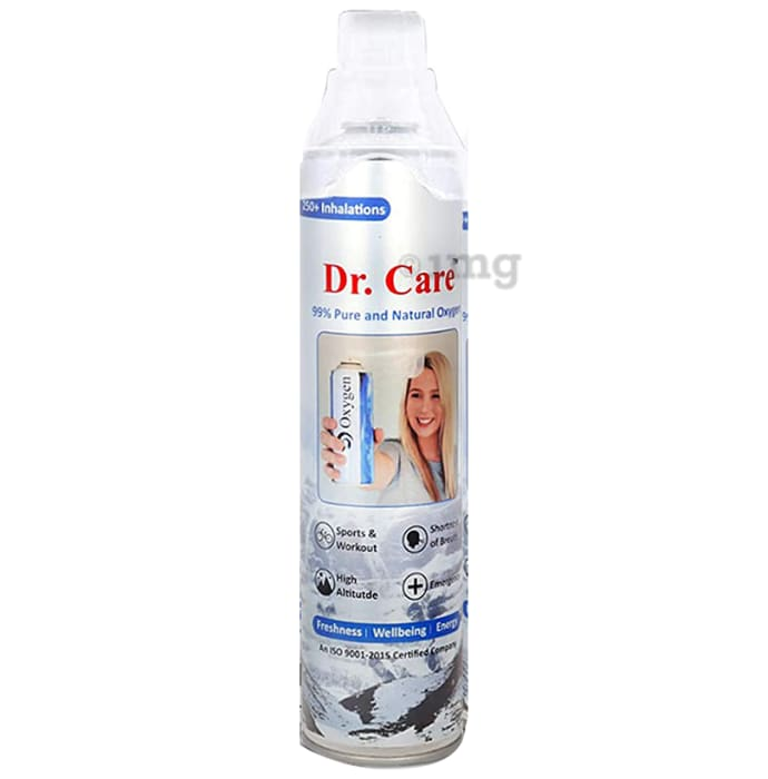 Dr Care Portable Oxygen Can with Inbuilt Mask