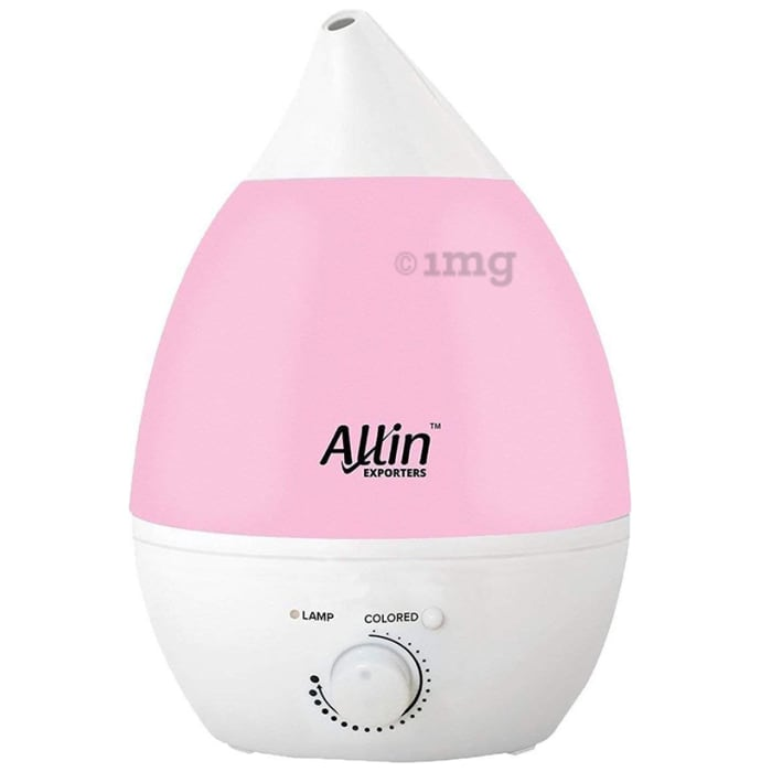 Allin Exporters Cool Mist Ultrasonic Humidifier (2.4Ltr Tank) Pink