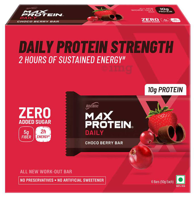 RiteBite Choco Berry Max Protein Daily Bar (50gm Each)