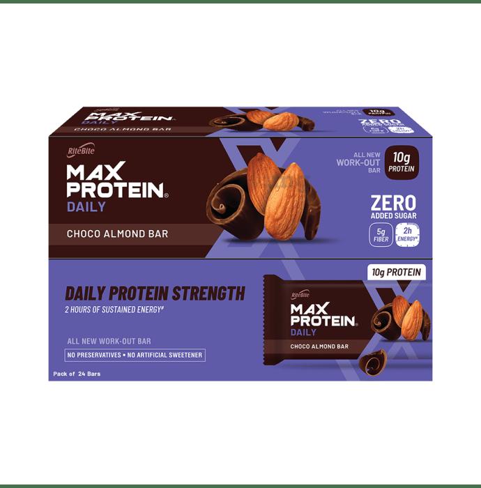 RiteBite Max Protein Daily Bar (50gm Each) Choco Almond