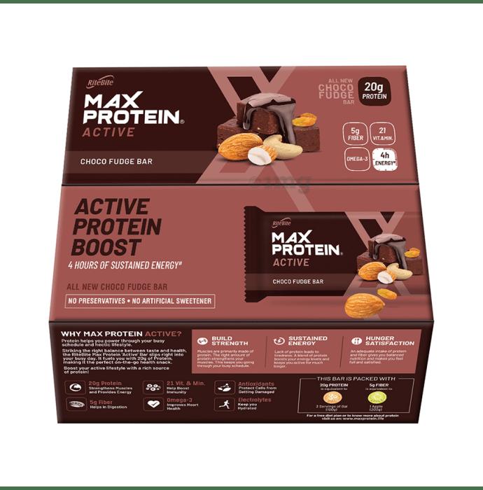 RiteBite Max Protein Active Choco Fudge Bar: Buy box of 12 ...