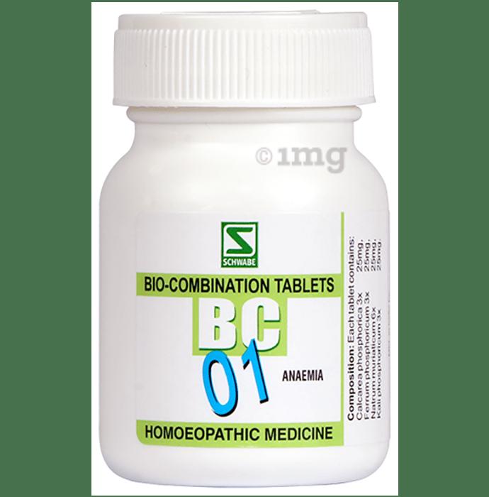 Dr Willmar Schwabe India Bio-Combination 01 (BC 01)Tablet