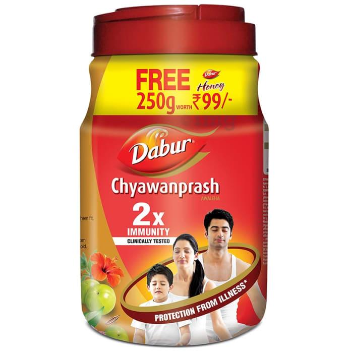 Dabur Chyawanprash Awaleha with 250gm Honey Free