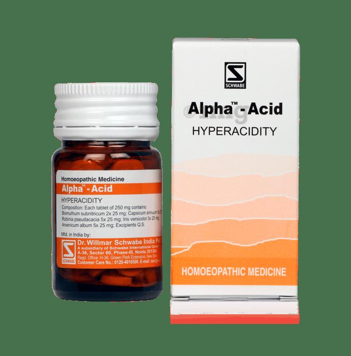 Dr Willmar Schwabe India Alpha - Acid Tablet
