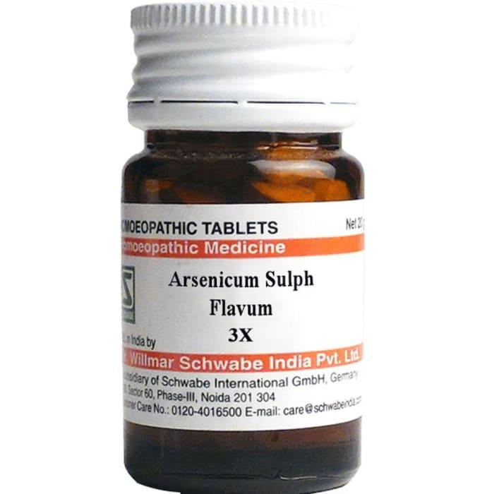 Dr Willmar Schwabe India Arsenicum Sulph Flavum Trituration Tablet 3X