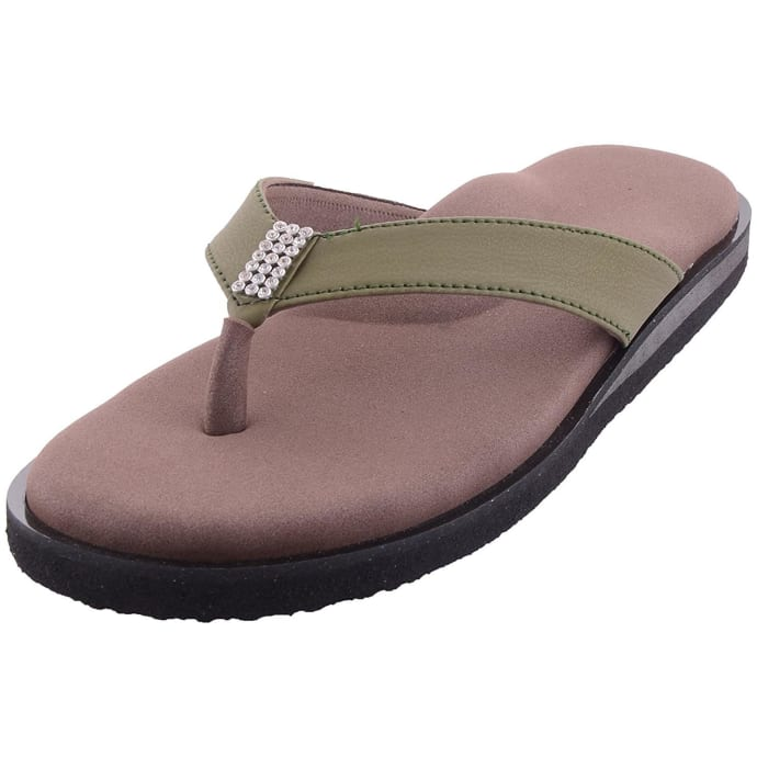 Dia One Orthopedic Sandal Rubber Sole MCP Insole Diabetic Footwear for Women Dia_34 Size 6