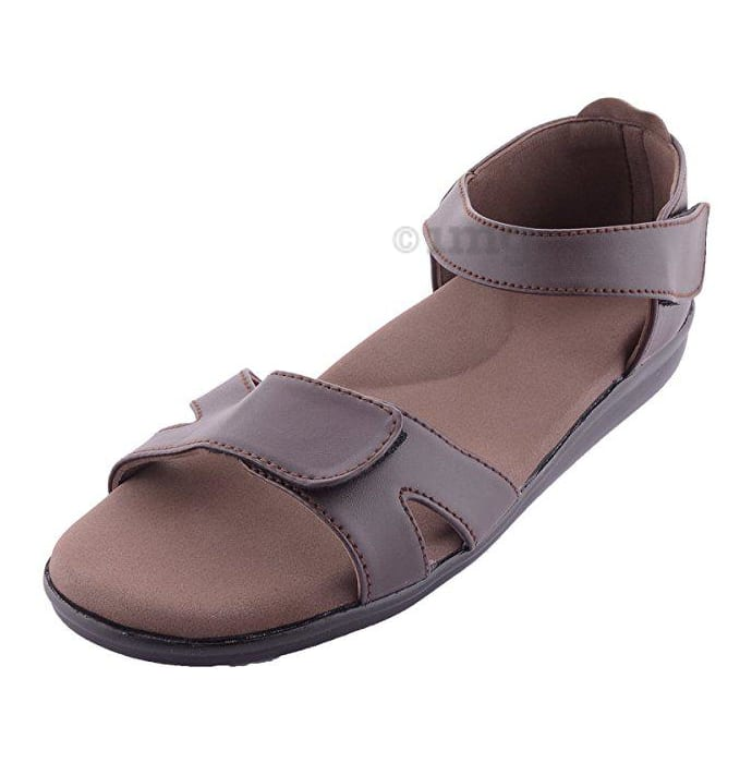 Dia One Orthopedic Sandal Rubber Sole MCP Insole Diabetic Footwear for Women Dia_13 Size 6