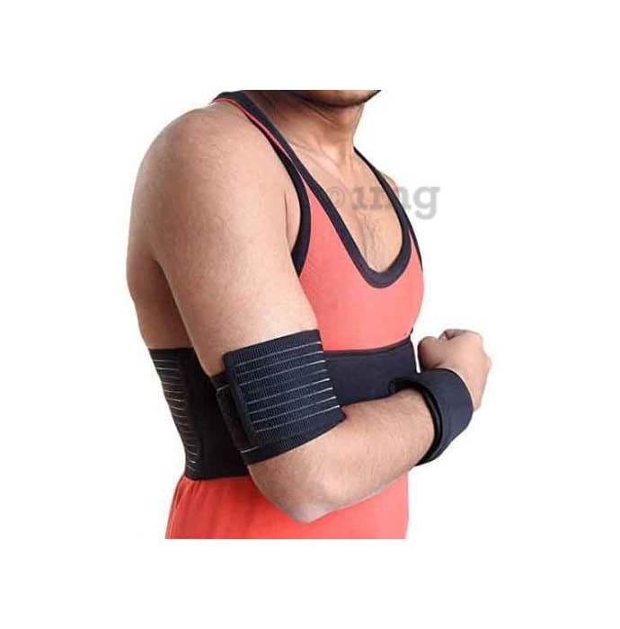 Wonder Care S106 Shoulder Immobilizer Arm Sling Elastic Shoulder Brace Small Black