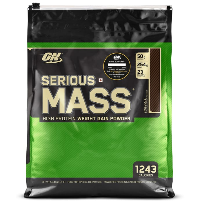 Optimum Nutrition (ON) Serious Mass Weight Gain Powder Chocolate