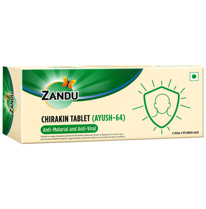 Zandu Chirakin Tablet (Ayush 64)