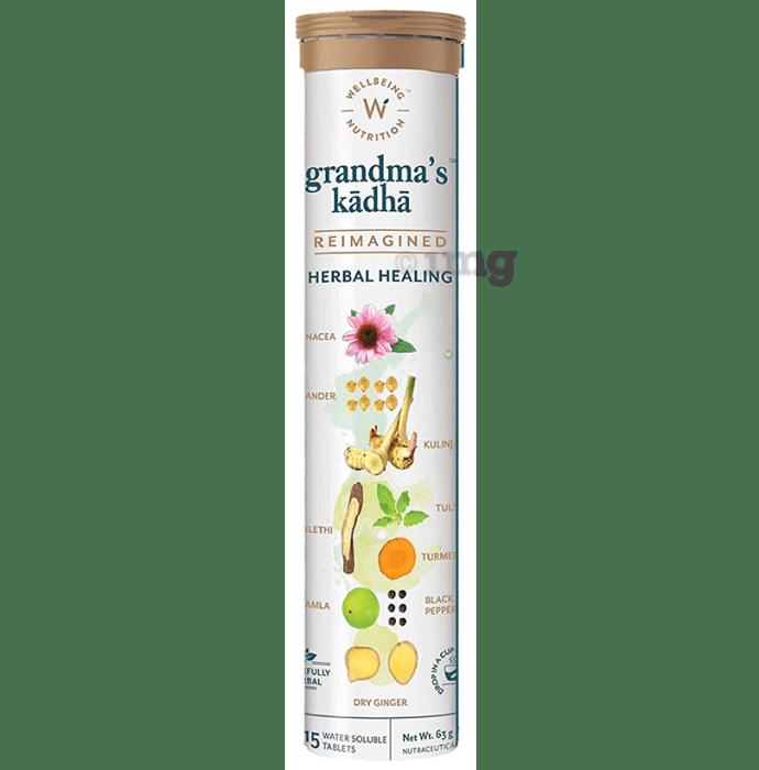 Wellbeing Nutrition Grandma's Kadha Herbal Healing Water Soluble Tablet (15 Each)