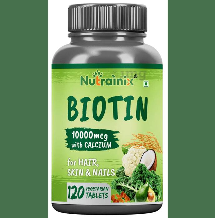 Nutrainix Biotin 10000mcg with Calcium Vegetarin Tablet