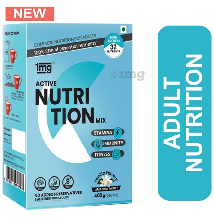 1mg Active Nutrition Mix Whey Protein, Vitamin D, Choline and Fiber Vanilla