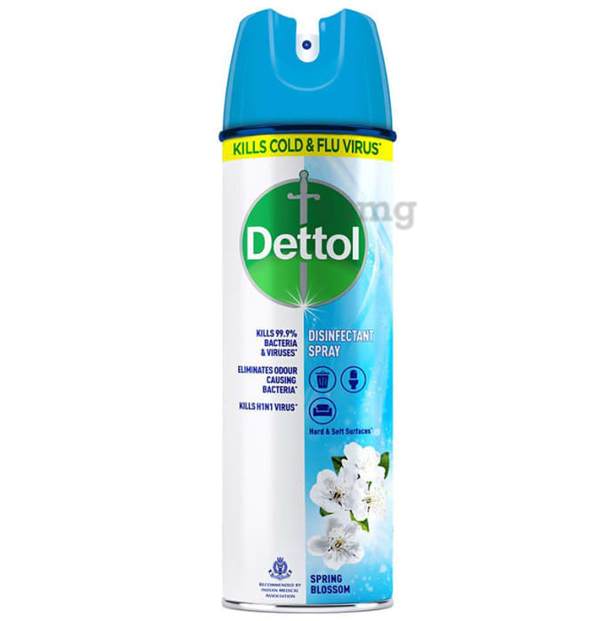 Dettol Spring Blossom Disinfectant Spray Sanitizer for Germ Protection on Hard & Soft Surfaces