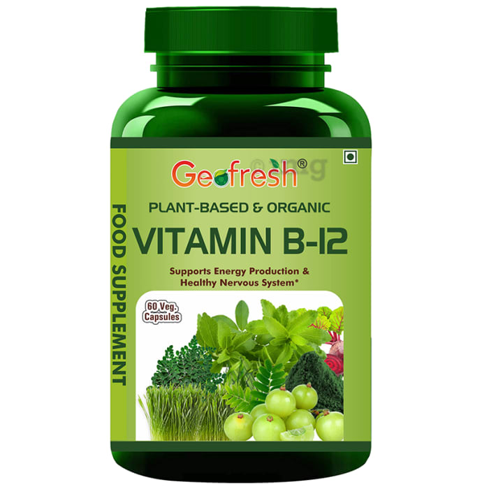 Geofresh Natural Plant Based & Organic Vitamin B12 Veg Capsule