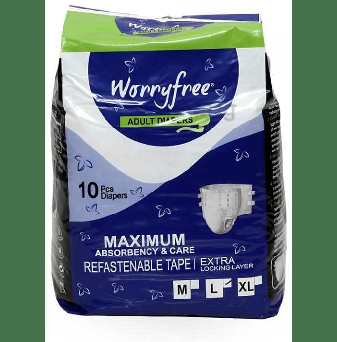 Worryfree Adult Diaper (10 Each) Large