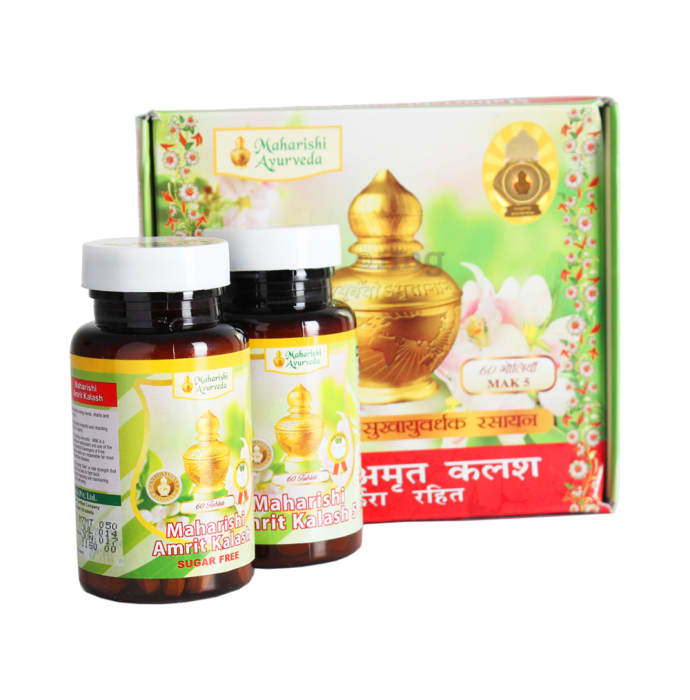 Maharishi Amrit Kalash - Dual Pack of 4 & 5 (With Sugar Free Tablets)