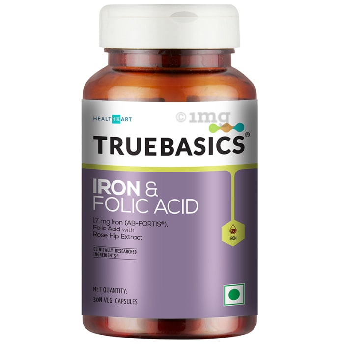 TrueBasics Iron & Folic Acid Veg Capsule