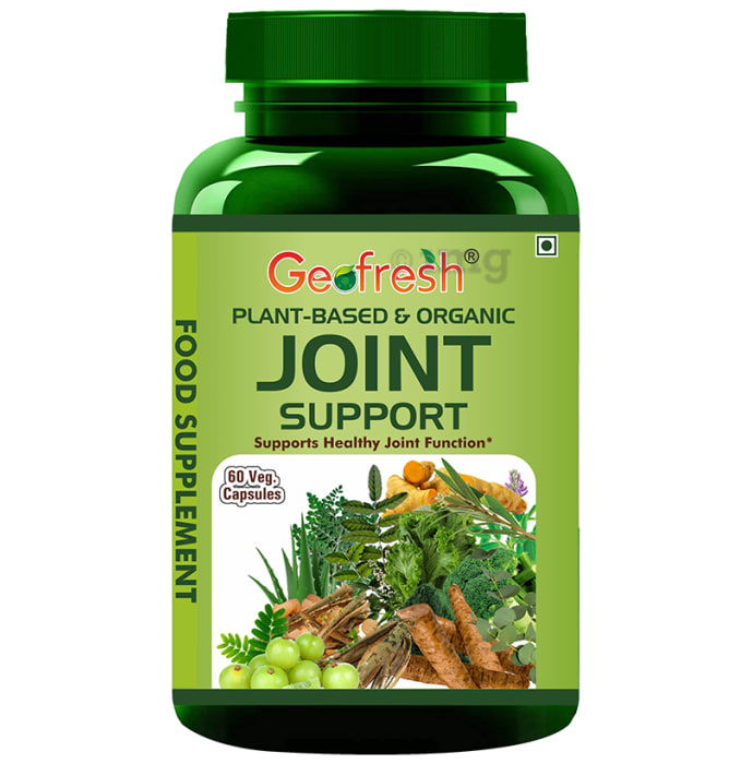 Geofresh Natural Plant Based & Organic Joint Support Veg Capsule