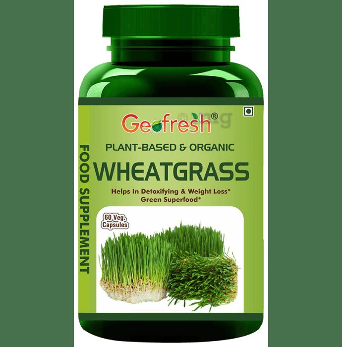 Geofresh Natural Plant Based & Organic Wheatgrass Veg Capsule