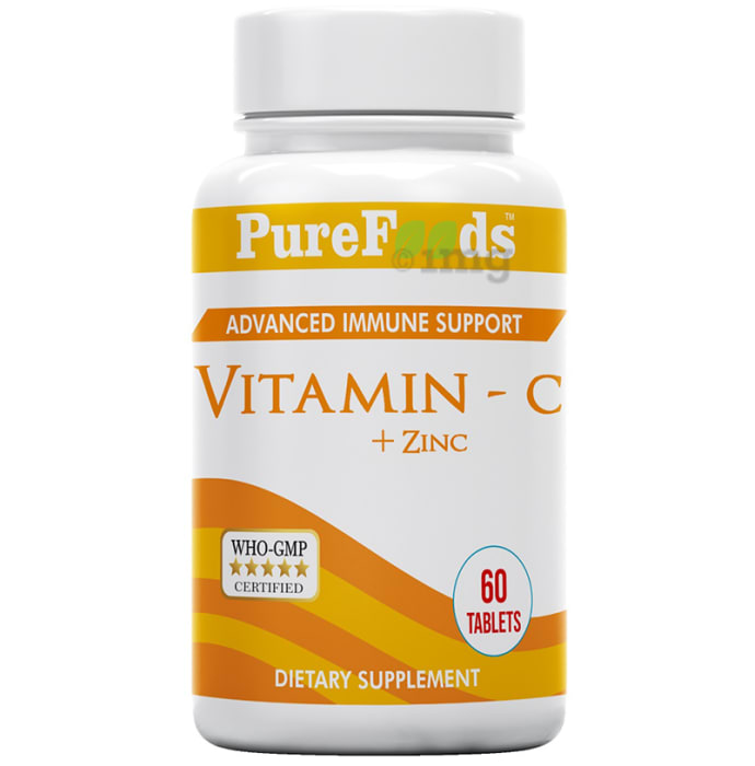 PureFoods Vitamin C + Zinc with Advanced Immune Support Tablet Gluten Free