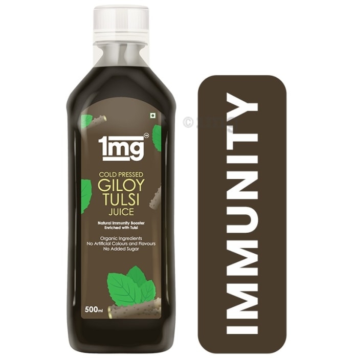 1mg Cold Pressed Giloy Tulsi Juice Natural Immunity Booster Enriched with Tulsi