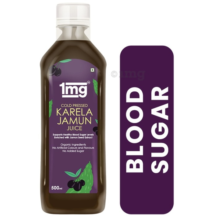 1mg Cold Pressed Karela Jamun Juice Supports Healthy Blood Sugar Levels Enriched with Jamun Seed Extract