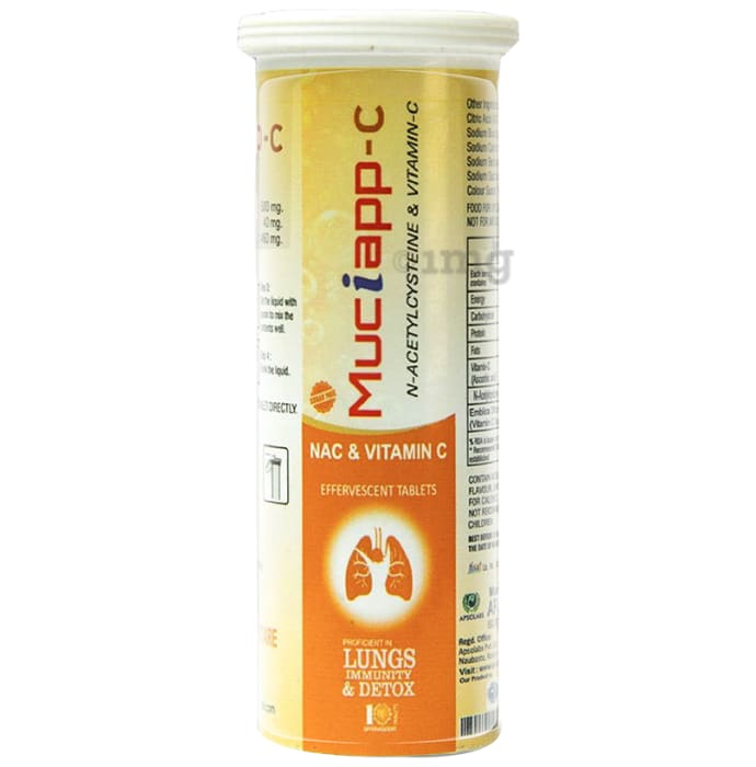 Muciapp -C N-Acetylcysteine & Vitamin-C Effervescent Tablet (10 Each)